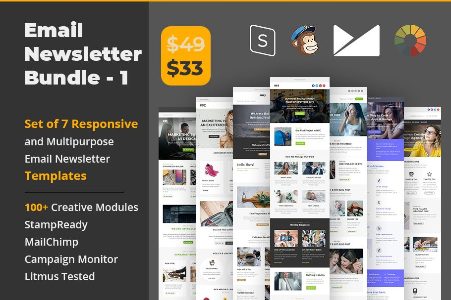 This Business Email Newsletter Template Bundle Is For Most Of Your