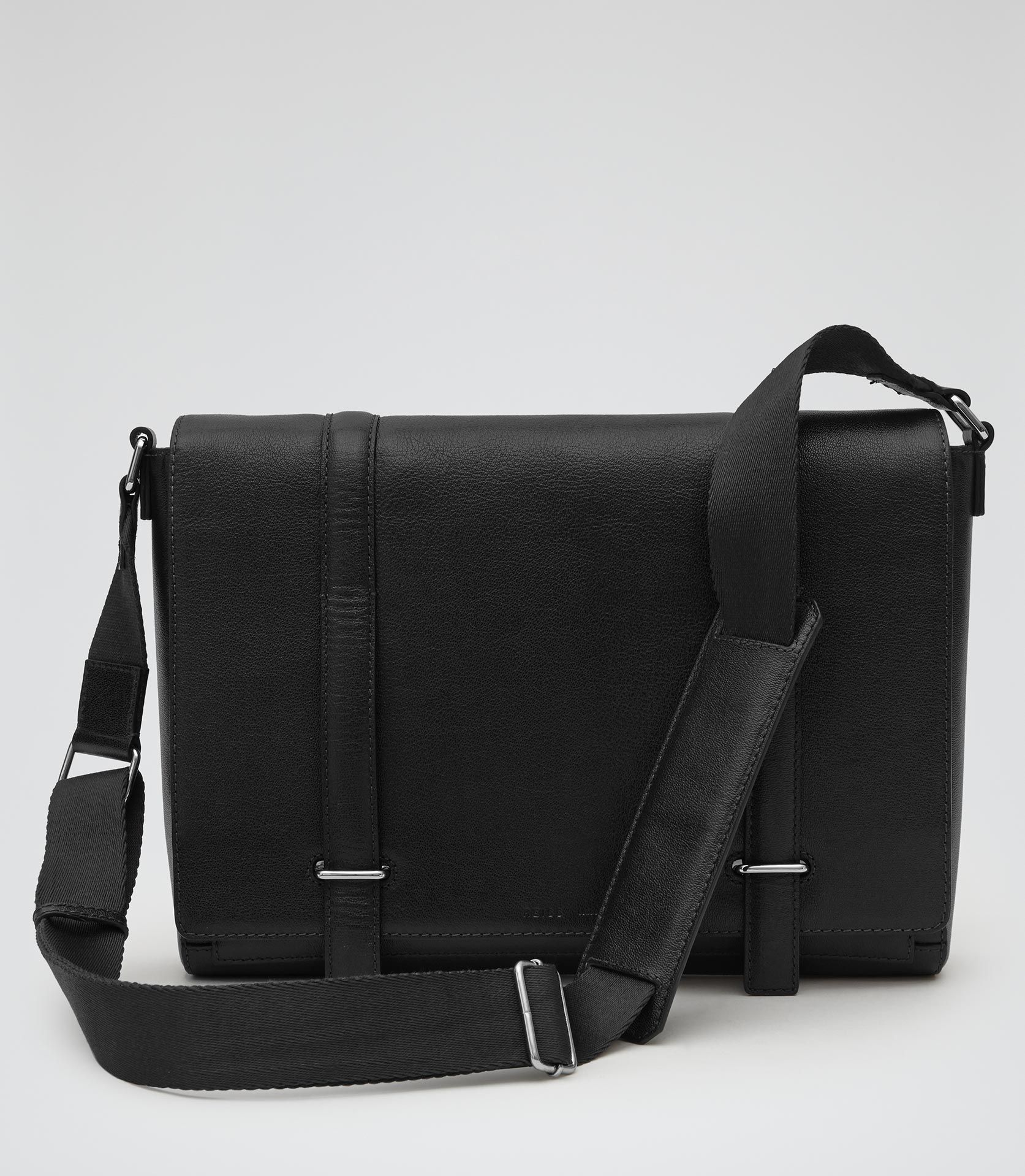 Mens Black Leather Messenger Bag - Reiss Salvatrucha | Sartorials ...