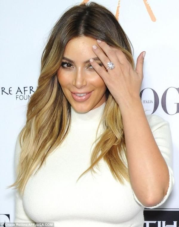 Kim Kardashian love her hair color | Hair | Kim kardashian ...