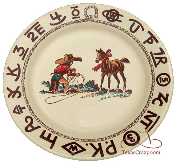 Cowboy Christmas Dishes with a Vintage Western Style  sc 1 st  Pinterest & Buy Cowboy Christmas Dinner Plates by True West - Free Shipping ...