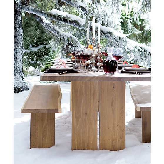 Dakota 99 Dining Table In Kitchen Tables Crate And Barrel 1699 Beautiful Oak With Irregular Wood Top