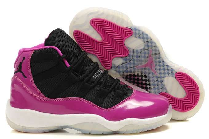 The Women\u0027s Air Jordan 11 Retro Shoes Black Pink White will keep your feet  comfortable while you\u0027re cutting, jumping, and running on the court.