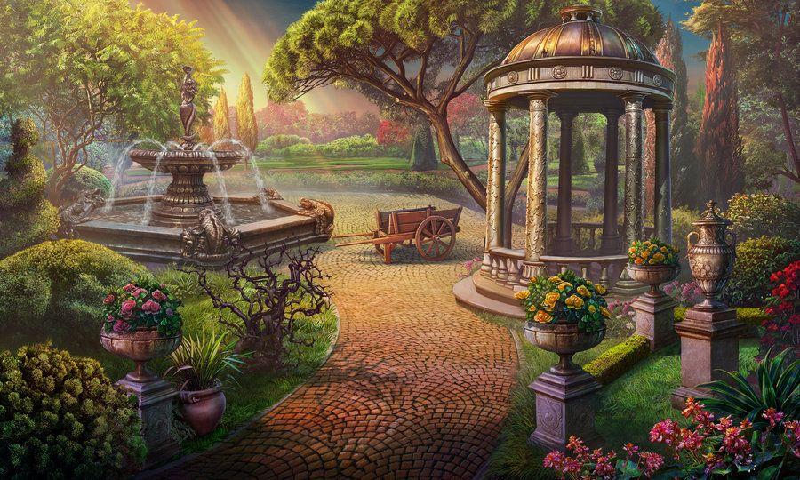Garden by Eneada.deviantart.com on @DeviantArt