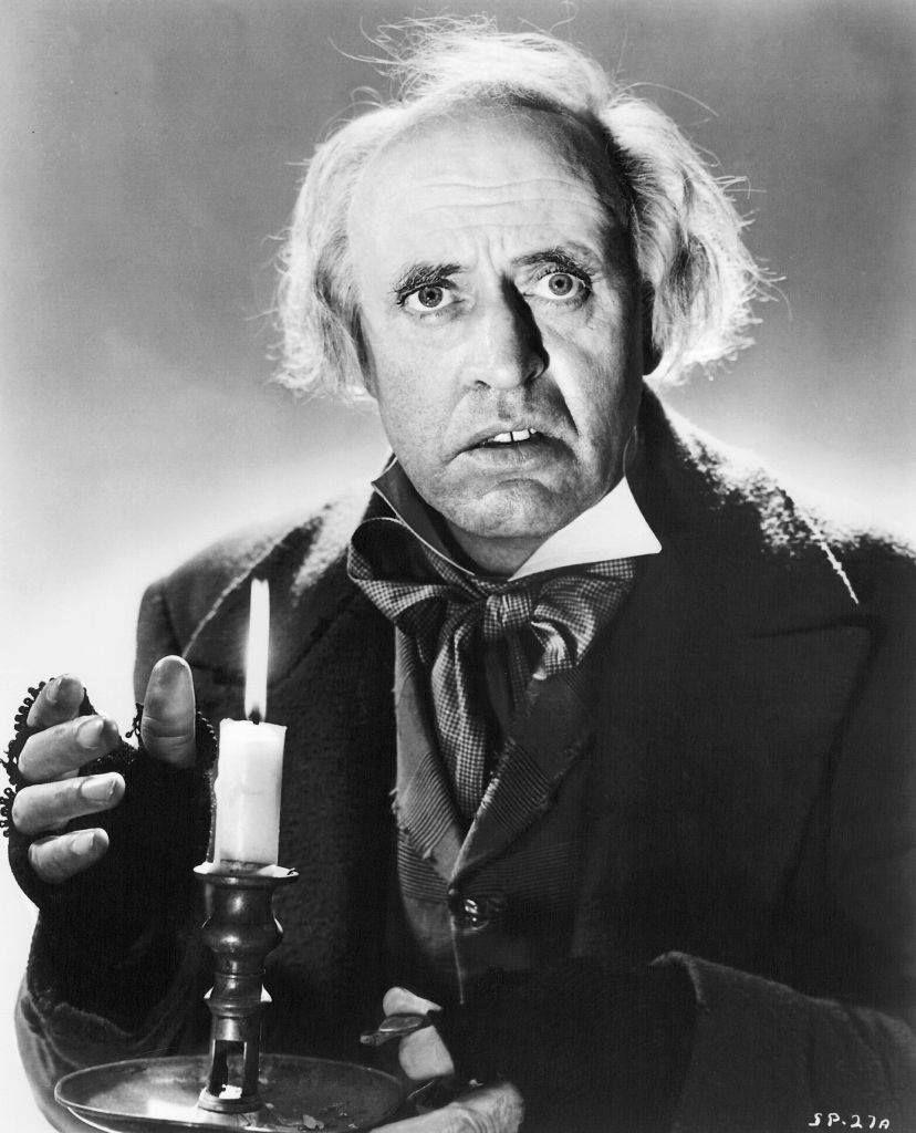 Alastair Sim as Scrooge in a Christmas Carol (1951). | Christmas carol, Movie stars, Scrooge