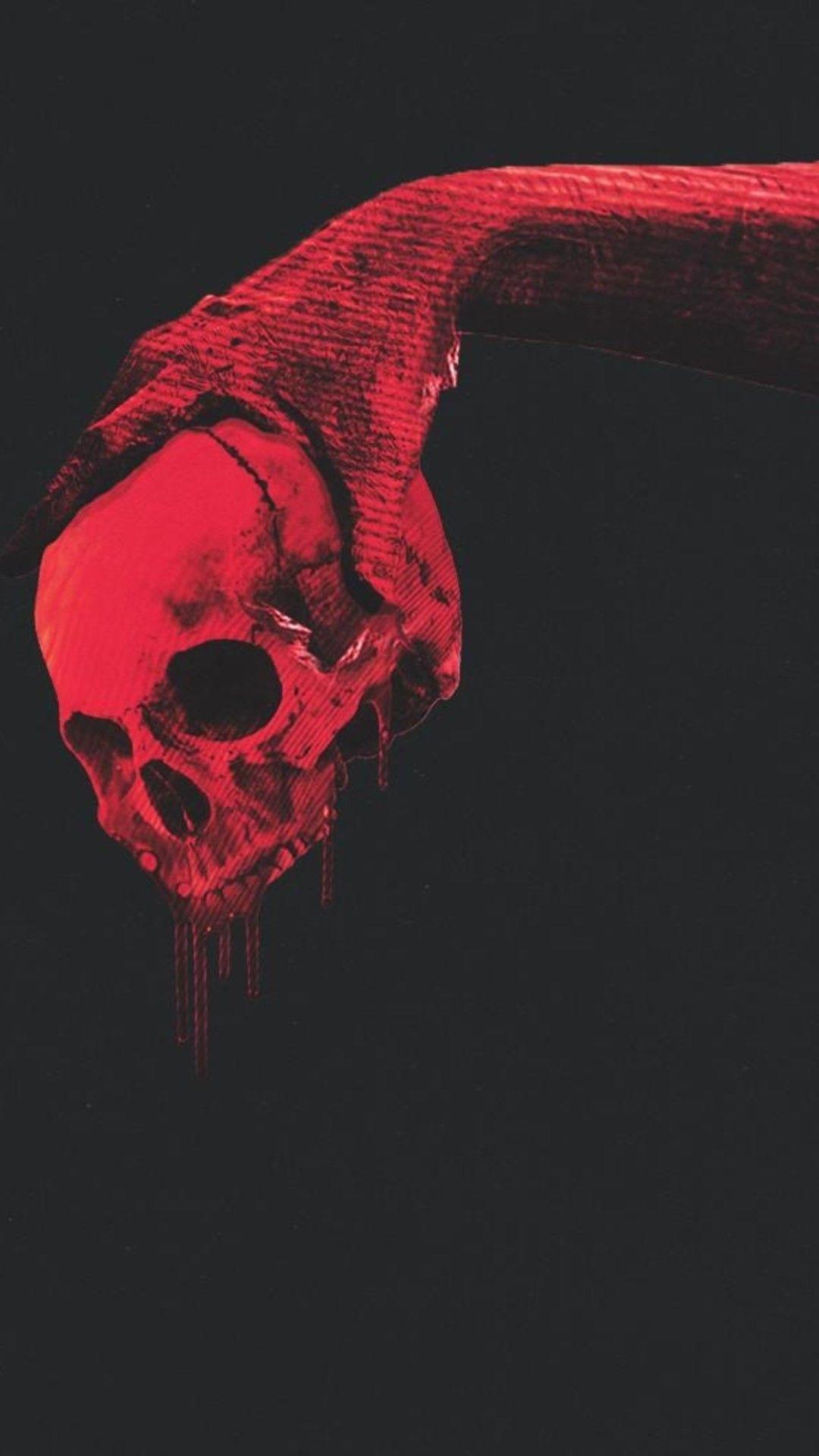 67 Red Skull Wallpapers On Wallpaperplay Skull Wallpaper Black Skulls Wallpaper Skull