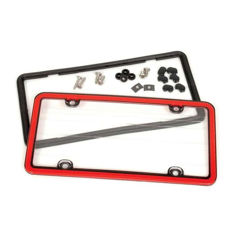 Porsche® License Plate Frame, Acrylic, Red | Porsche Stuff ...