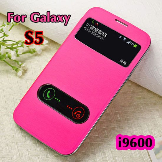 >> Click to Buy << For Samsung Galaxy S5 i9600  Smart Phone case Original  View open window flip leather back cover cases #Affiliate