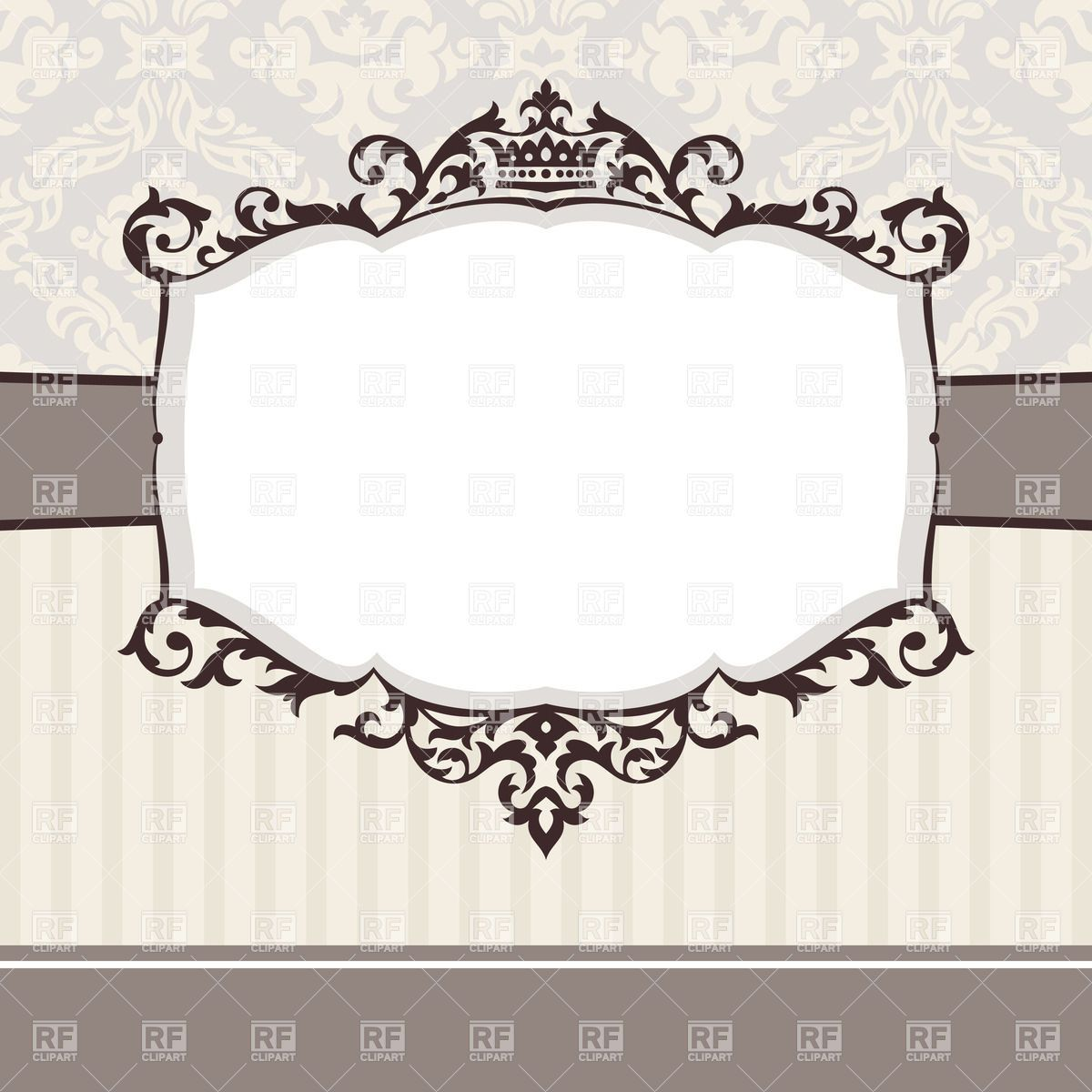 Pink Vintage Border Templates Abstract cute decorati...