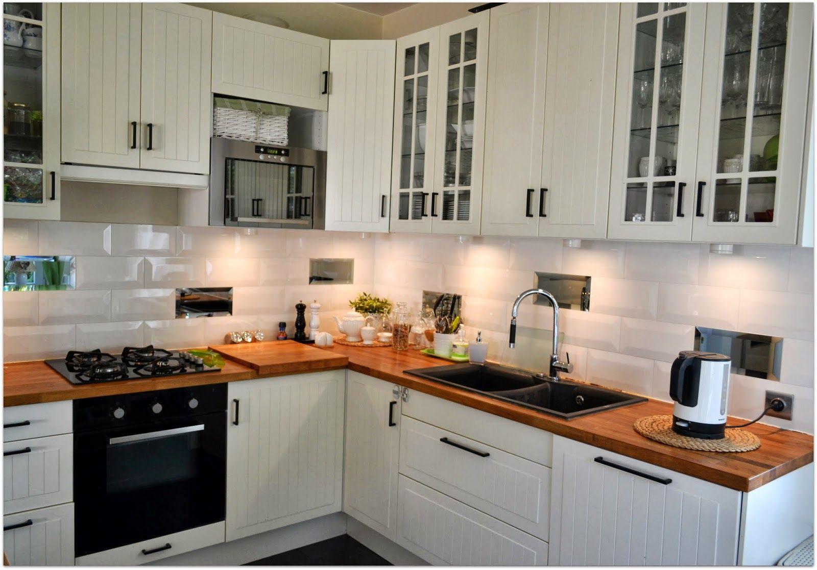 biała kuchnia ikea stat  Szukaj w Google  kuchnia   -> Kuchnia Ecru Z Czarnym Blatem