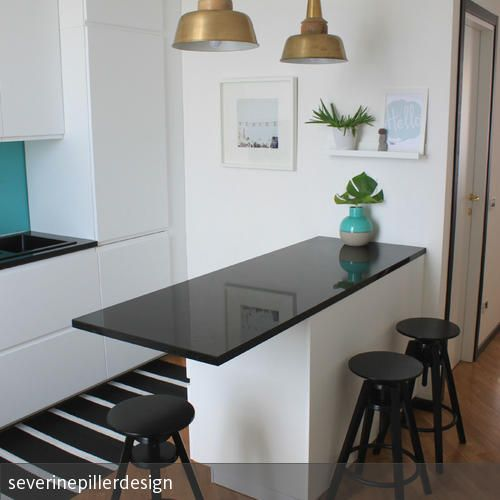 kitchen remodel - project cool flat | Küchentresen | Pinterest ...