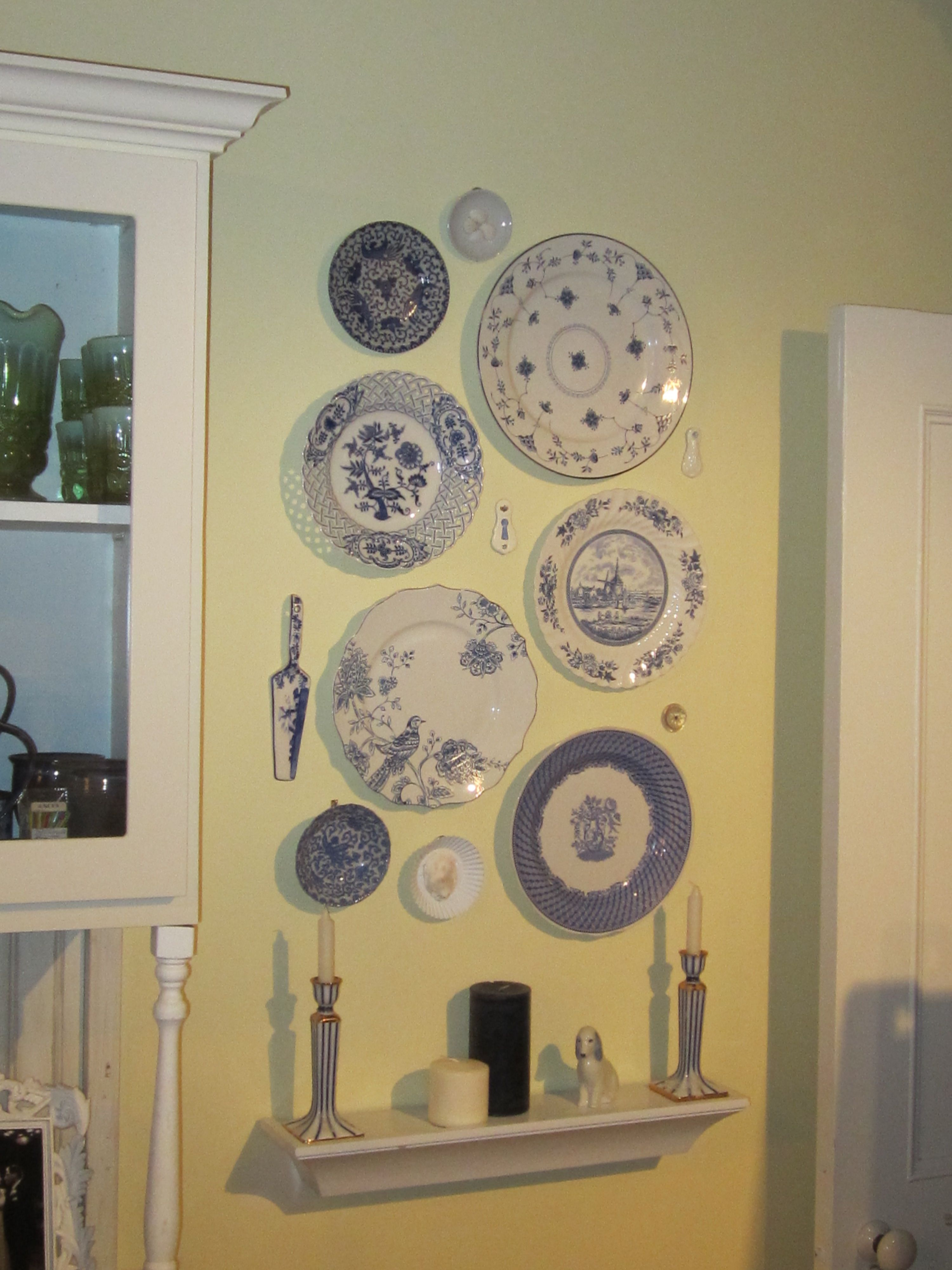 Wall Plate Display Most Were Thrift Store And Home Goods Finds I