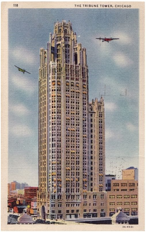 Tribune Tower From A Vintage Chicago Postcard Http Witp Tumblr