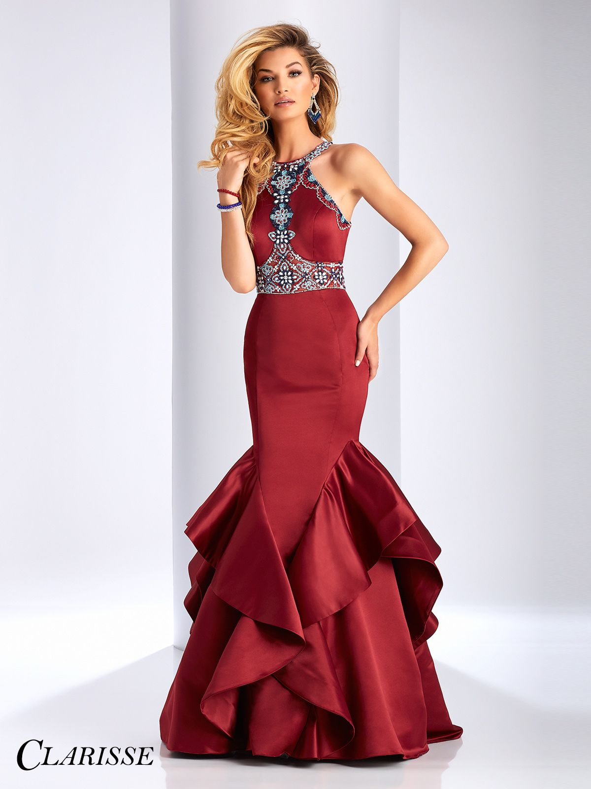 Wedding Prom Dresses Mermaid clarisse gorgeous mermaid prom dress 3058 shops classy and satin 2017 style dramatic with unique bead details and