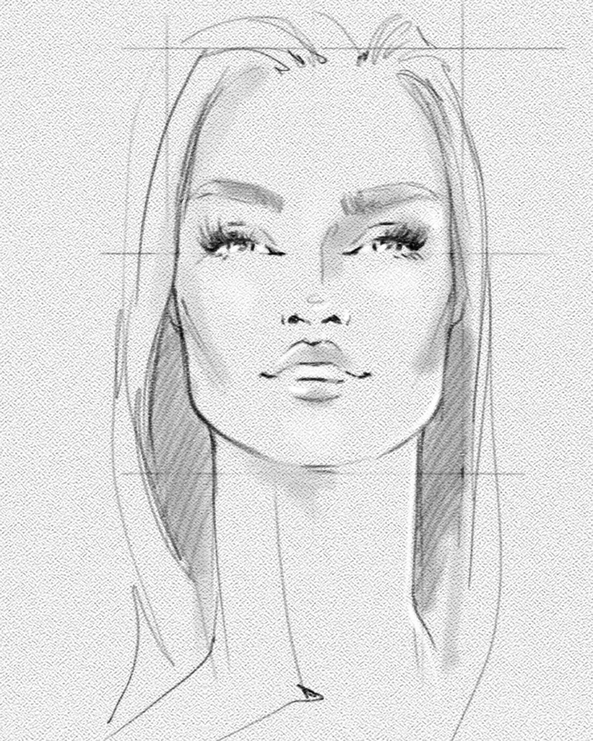 Fashion Face Study Illustrated By Julija Lubgane Fashion Illustration Sketches Face Fashion Illustration Face Fashion Illustrations Techniques