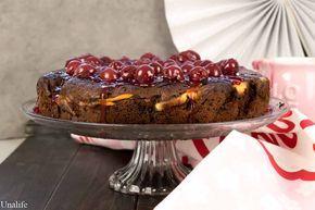 Rezept für Schoko Kirsch Kuchen mit Vanille-Quark Füllung. Schokoladig, cremig, lecker und einfach gemacht. Schokokuchen - Kirschkuchen - Obstkuchen
