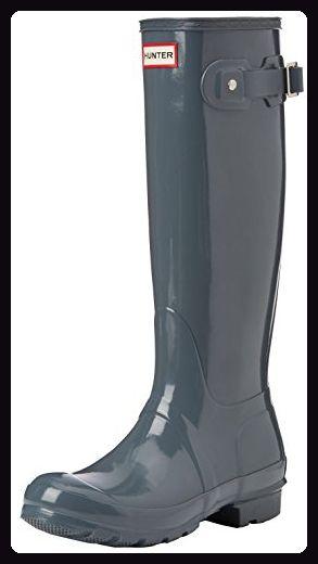 Auschecken Geschäft absolut stilvoll Hunter Damen Original Tall Gloss Stiefel, Grau (Graphite ...