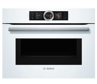 Disponible Chez Nesri Discount : Four Combiné Micro Ondes Pyrolyse Blanc  Bosch CMG636BW1