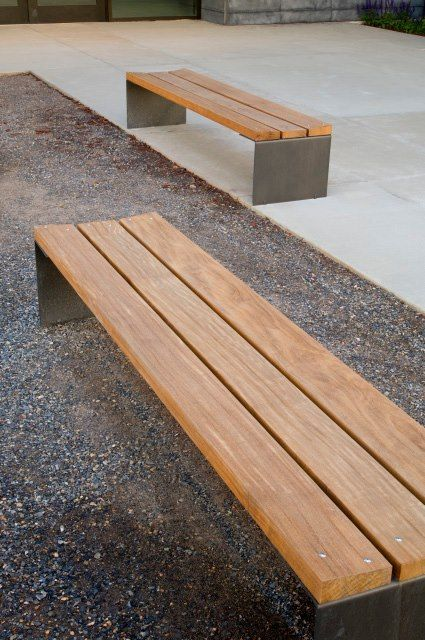 Modern Wood Bench ~ Simple modern lines diy pinterest bench and