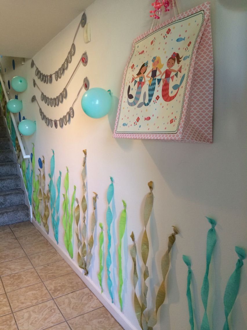 Diy Jellyfish Decorations Disneys The Little Mermaid Girls Birthday Party Decorations