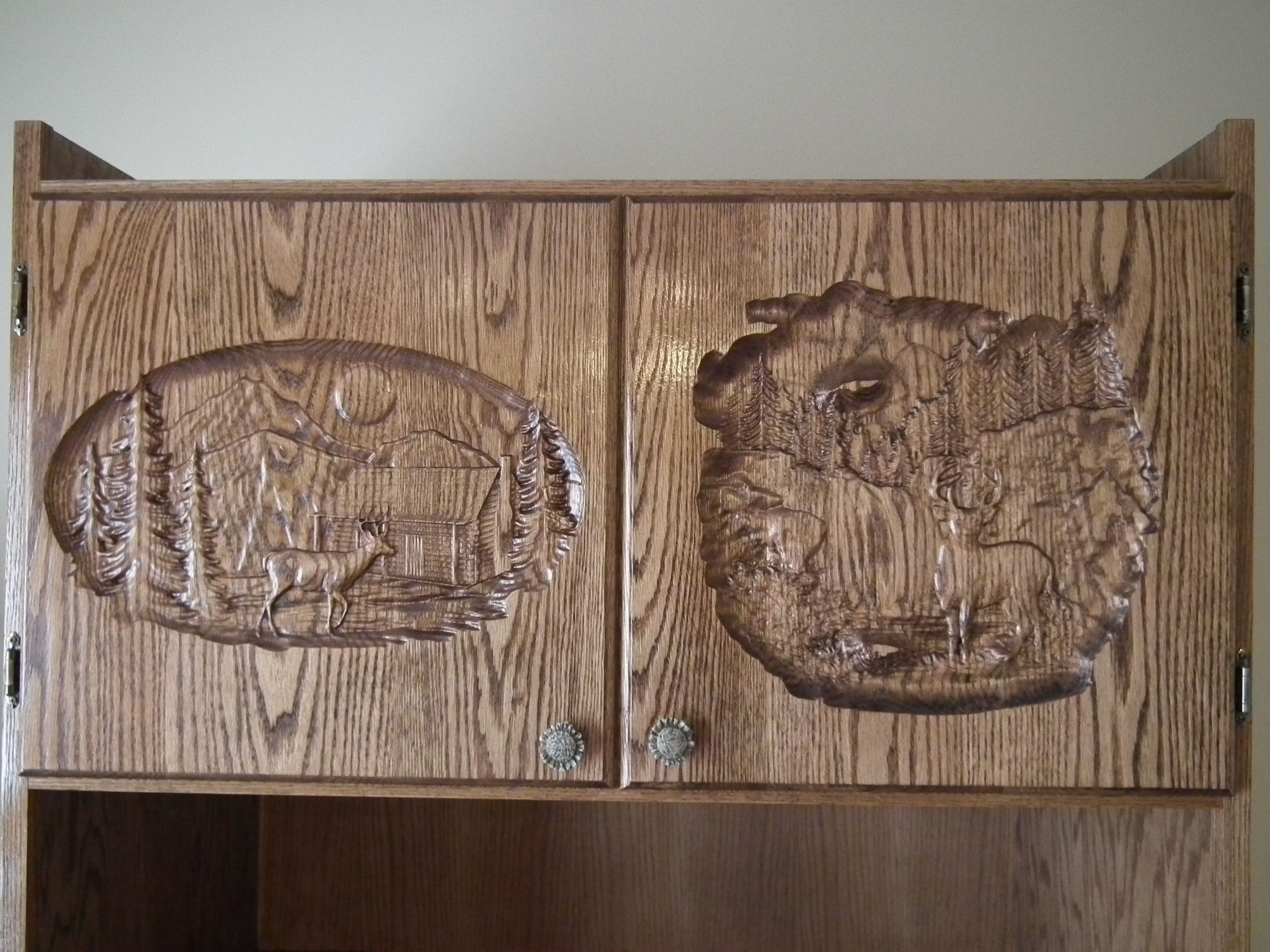 Cabinet Door Carvings Decorative Relief Carving Carved Cabinet
