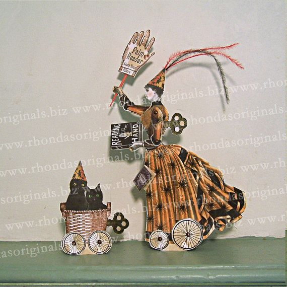 INSTANT Download Halloween Decoration Palm by RhondasOriginals - halloween crafts decorations