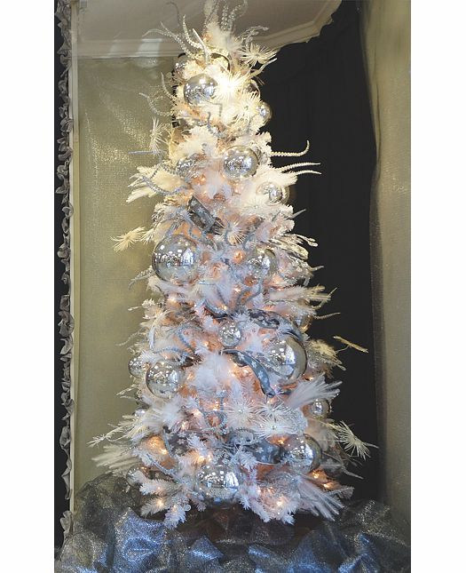 Starry Silvery Night Christmas Tree Ideas White Christmas Tree Decorations Christmas Decorations Wholesale Silver Christmas Tree