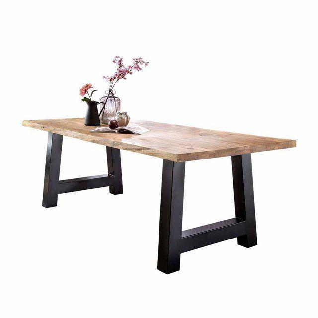 Tisch Zitronys Mit Baumkante Esszimmertisch Holztisch