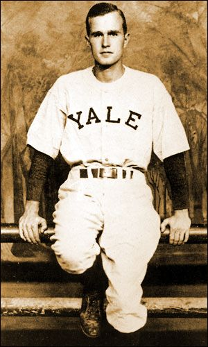 Image result for george bush yale baseball]