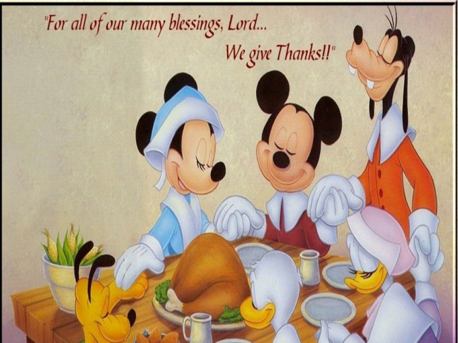 Thanksgiving Mickey Mouse Thanksgiving Messages Free