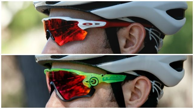 The oakley radar ev path (top) compared to the jawbreaker (bottom)  1670c8298