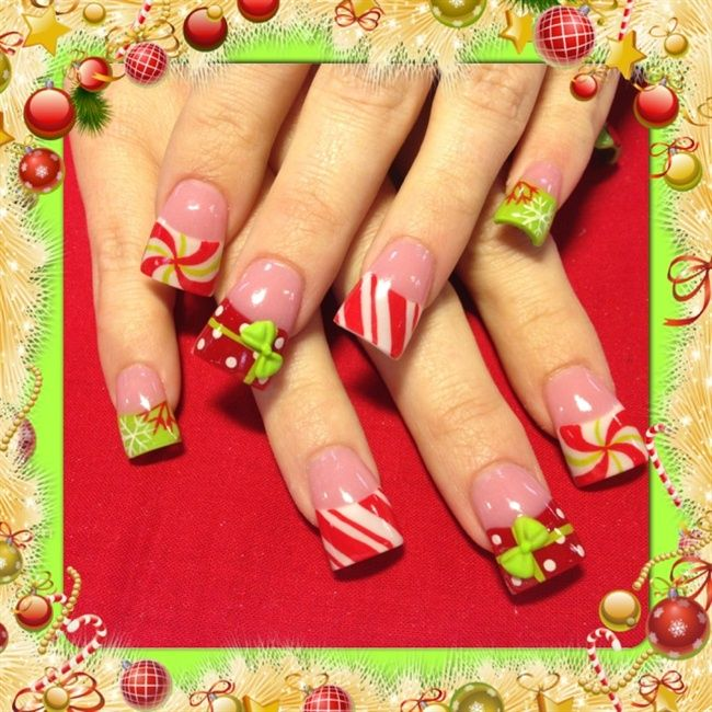 Xmas nails 2 - Nail Art Gallery | Nails | Pinterest | Xmas nails and ...