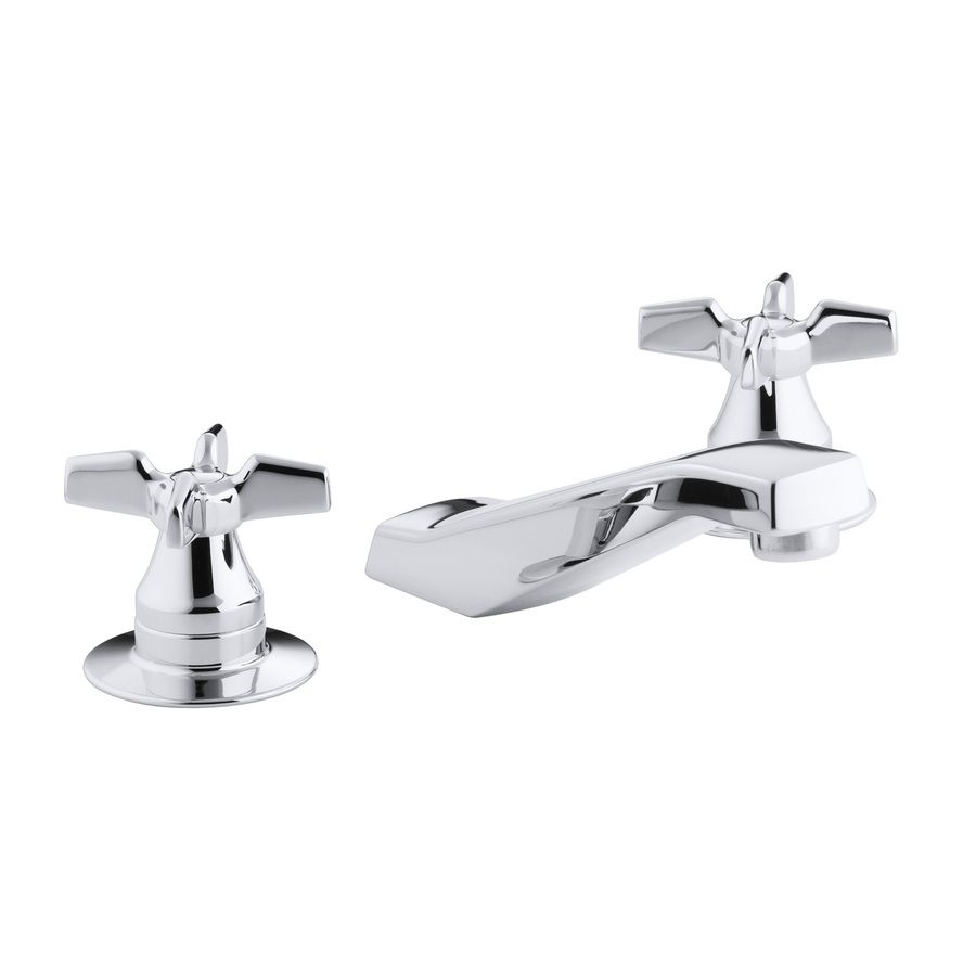 Shop KOHLER Triton Polished Chrome 2-Handle Bathroom Sink Faucet at Lowes.com