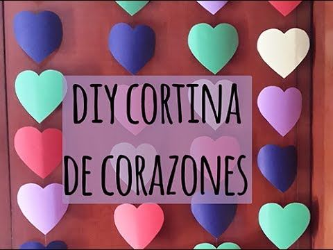 Haz una cortina ¡de corazones de papel! http://ini.es/1xhSzqe #CortinasDeCorazones, #CortinasDePapel, #CortinasDivertidas, #DIY