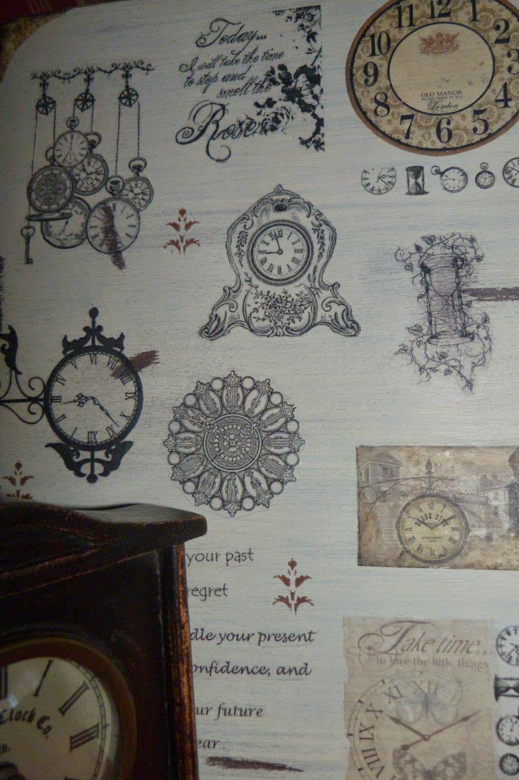 Collage de relojes realizado con transfer   Cuadros, Marcos de Fotos ...