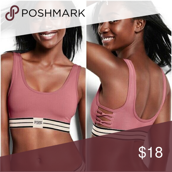 6f3a6555b71 NIP VS PINK STRAPPY BEGONIA BRA New in online packaging. ⛔ PRICE ...