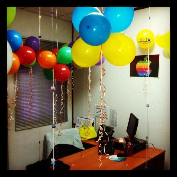 Mac birthday cumples de oficina pinterest for Decoracion para oficina