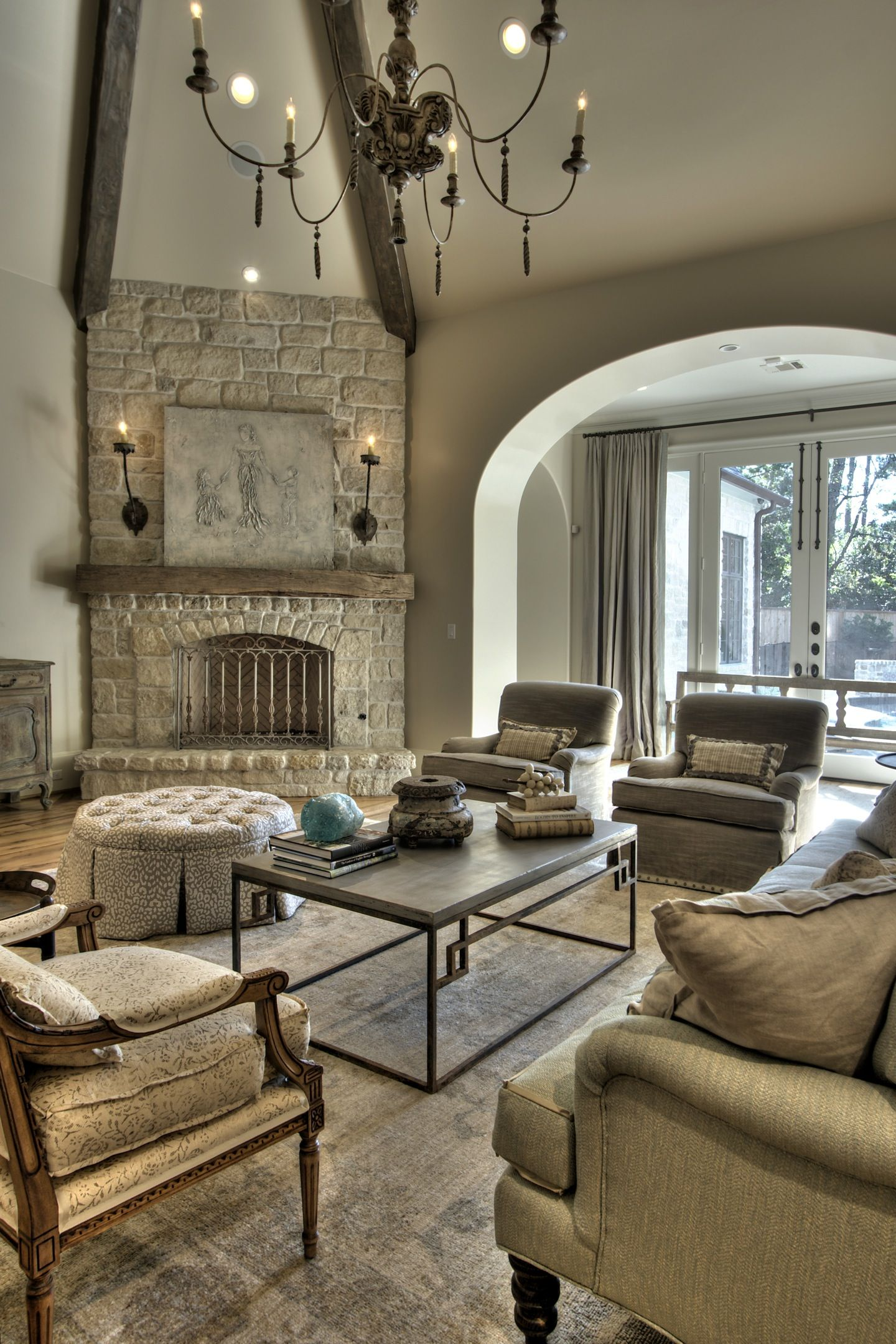 Beautiful Drawing Room: Amazing Fireplace. Don't Like That It's Cornered. I Think
