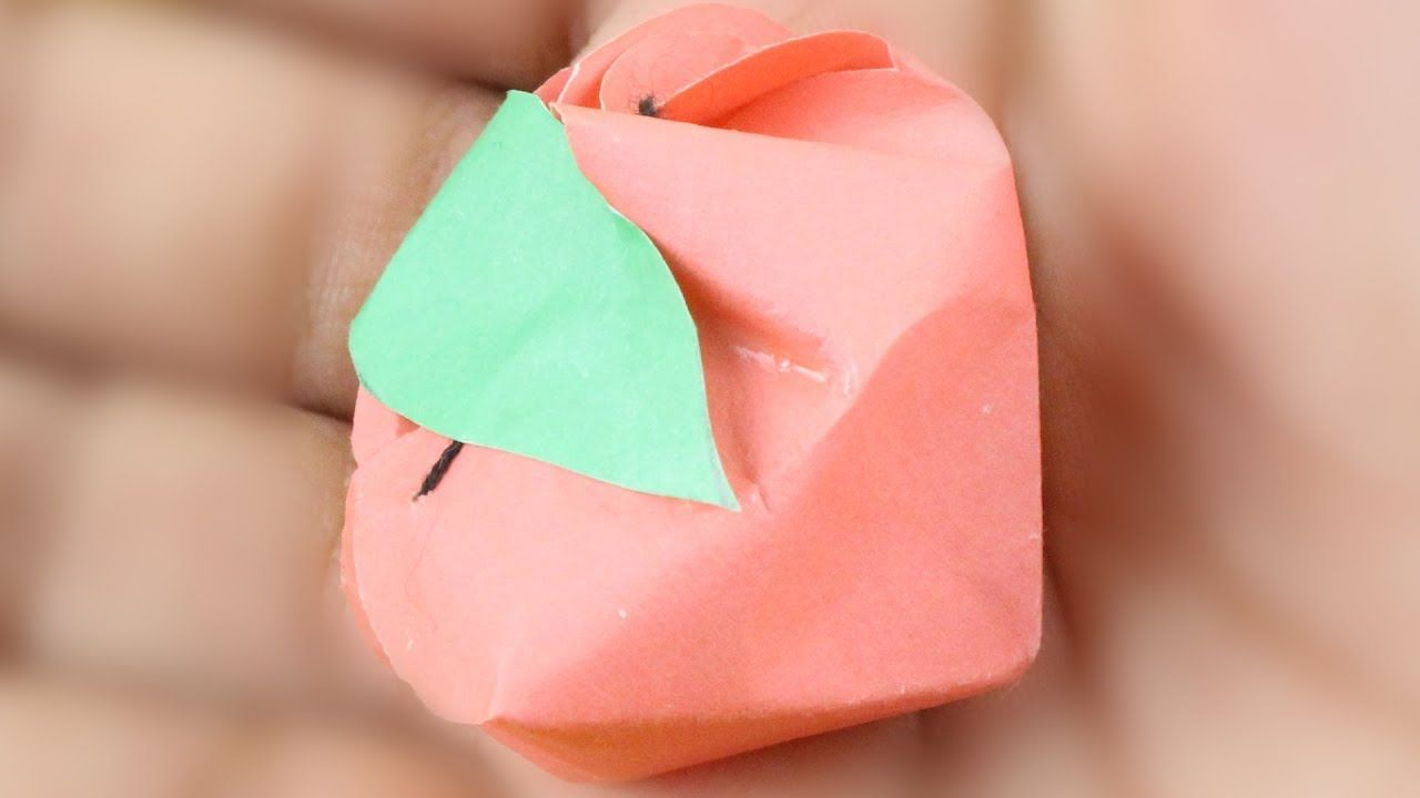 Paper Strawberry Easy Method For Kids Or 3d Origami Box Candy Chocolate