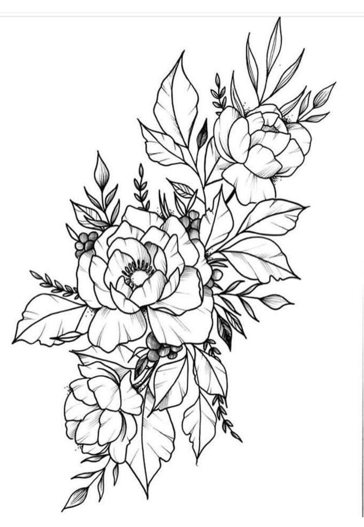 Pin by Brandi Stam on Tattoos Tattoo outline, Flower