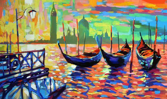 Venice  Large size Landscape Oil Painting On Canvas by spirosart