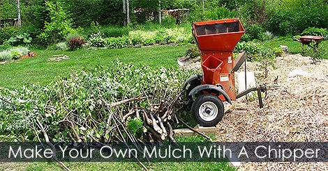 How To Make Garden Organic Mulch Using Wood Chips Or Ramial Chipped Wood.  Step By Step Instructions. Step 4 : Make Your Own Wood Chips   Rent Or Buy  A Wood ...