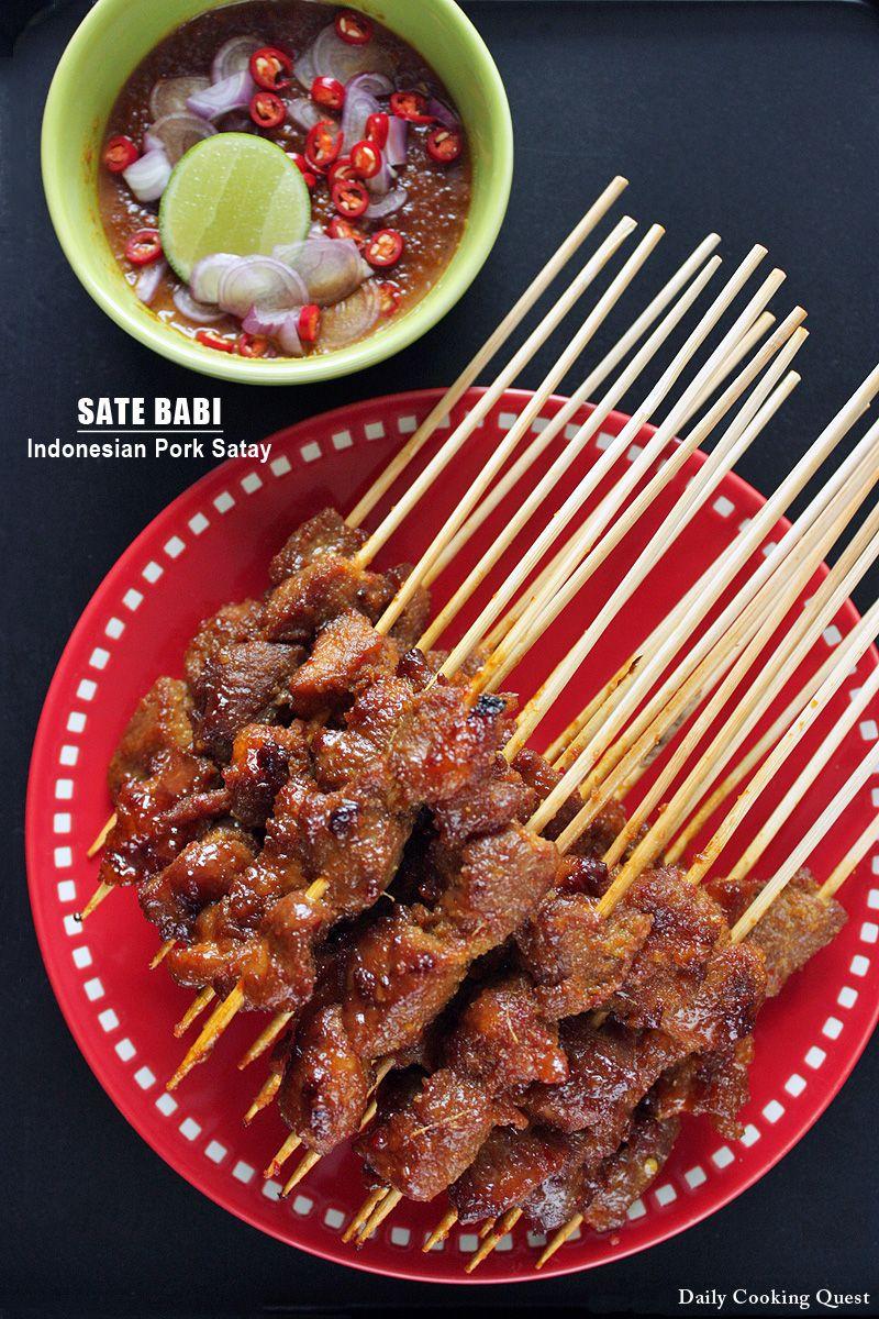 Sate Babi Indonesian Pork Satay Recipe Pork Satay Satay Recipe Satay