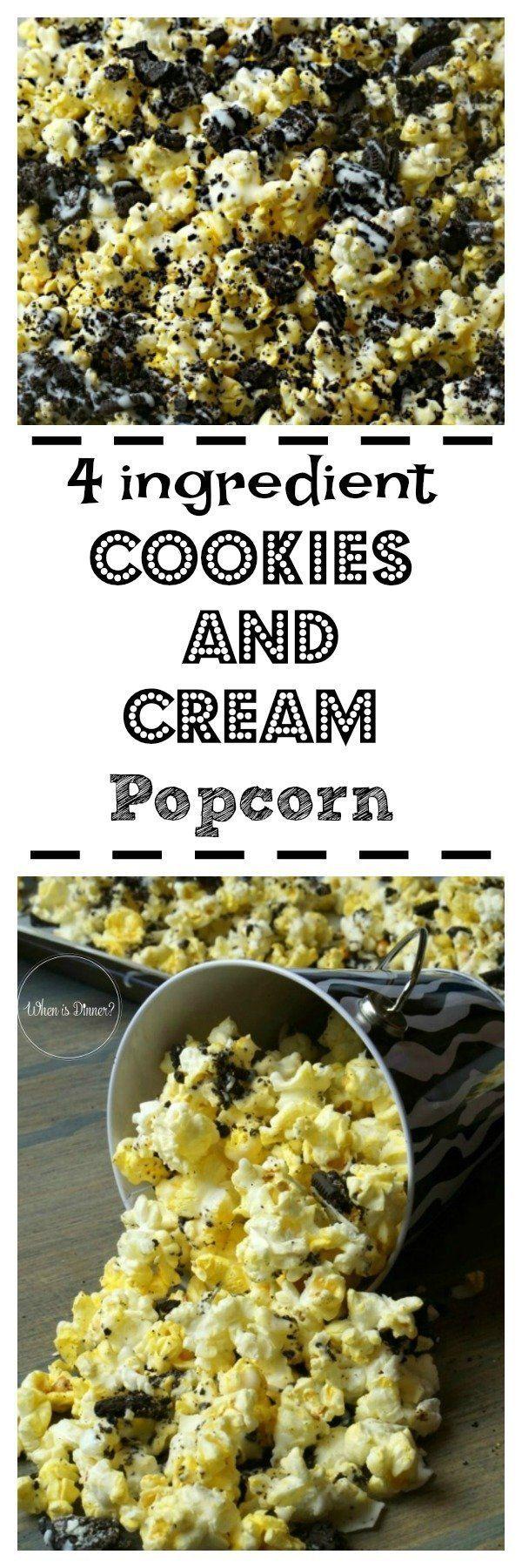 Cookies and Cream Popcorn Cookies and Cream Popcorn