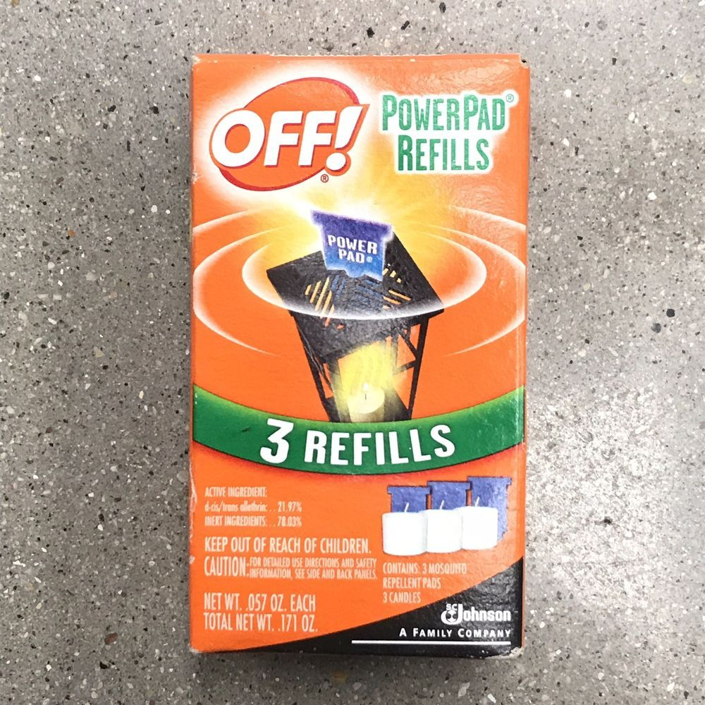 Off Powerpad Mosquito Repellent Lamp Refill 1pk Contains 3 Candles 3 Pads Ebay Mosquito Repellent Repellent Refill