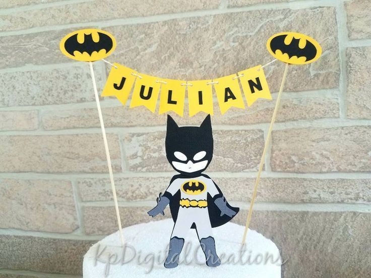 Batman Cake Topper Superhero Birthday Justice League Party Baby Shower By