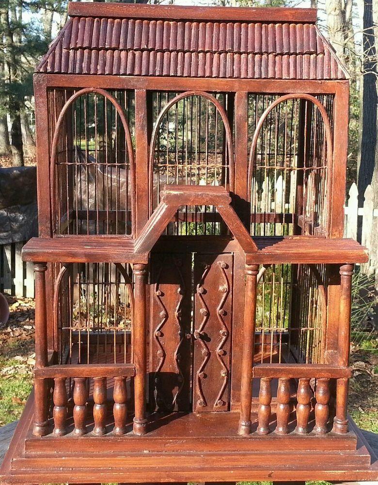 Details about Large Vintage/Antique Victorian Wire & Wood