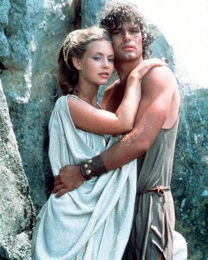 Harry Hamlin and Judi Bowker ~ Clash of the Titans ~ my room mate in college told me I looked like her