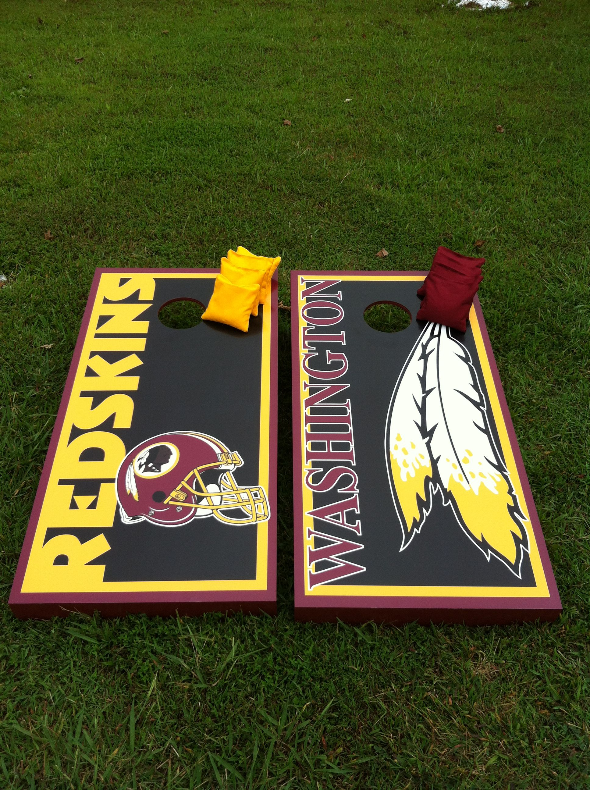 Awesome Redskins Cornhole Boards Cornhole Designs Cornhole Boards Uwap Interior Chair Design Uwaporg