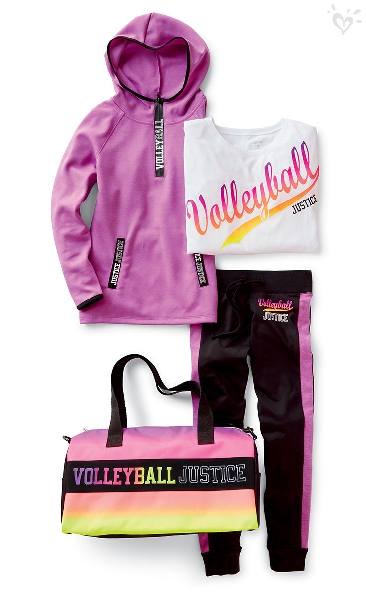 Pin By Shania On Fashion Girls Sports Clothes Volleyball Outfits Justice Clothing Outfits