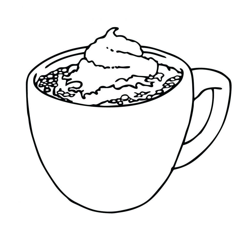 Hot Chocolate Mug Coloring Page Printable Hot Chocolate Mug Coloring Pages Hot Chocolate